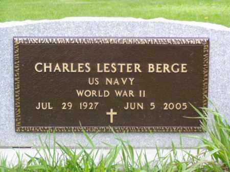 BERGE, CHARLES LESTER - Minnehaha County, South Dakota | CHARLES LESTER BERGE - South Dakota Gravestone Photos