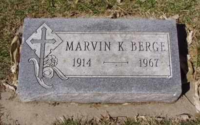 BERGE, MARVIN K. - Minnehaha County, South Dakota | MARVIN K. BERGE - South Dakota Gravestone Photos