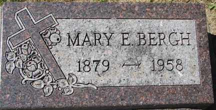 BERGH, MARY E. - Minnehaha County, South Dakota   MARY E. BERGH - South Dakota Gravestone Photos