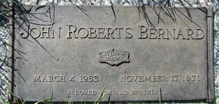BERNARD, JOHN ROBERTS - Minnehaha County, South Dakota | JOHN ROBERTS BERNARD - South Dakota Gravestone Photos