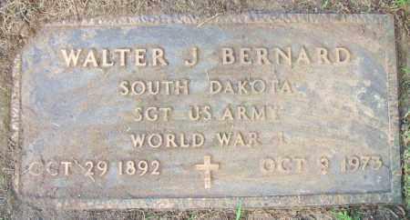 BERNARD, WALTER J. - Minnehaha County, South Dakota   WALTER J. BERNARD - South Dakota Gravestone Photos