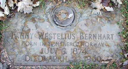 BERNHART, FANNY - Minnehaha County, South Dakota   FANNY BERNHART - South Dakota Gravestone Photos