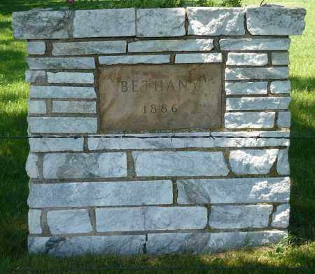 *BETHANY, CEMETERY SIGN - Minnehaha County, South Dakota   CEMETERY SIGN *BETHANY - South Dakota Gravestone Photos