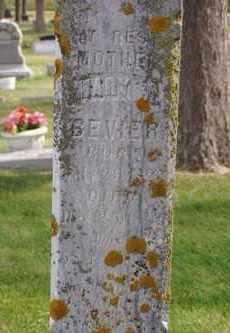 BEVIER, MARY  A. - Minnehaha County, South Dakota   MARY  A. BEVIER - South Dakota Gravestone Photos