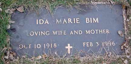 BIM, IDA MARIE - Minnehaha County, South Dakota | IDA MARIE BIM - South Dakota Gravestone Photos