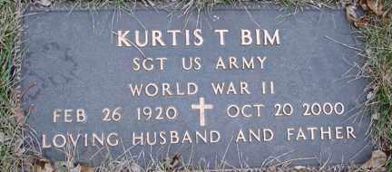 BIM, KURTIS T. (WWII) - Minnehaha County, South Dakota | KURTIS T. (WWII) BIM - South Dakota Gravestone Photos