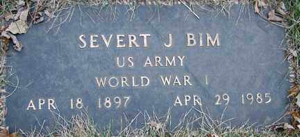 BIM, SEVERT J. (WWI) - Minnehaha County, South Dakota | SEVERT J. (WWI) BIM - South Dakota Gravestone Photos