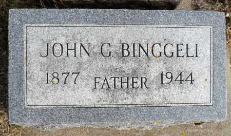 BINGGELI, JOHN G. - Minnehaha County, South Dakota | JOHN G. BINGGELI - South Dakota Gravestone Photos