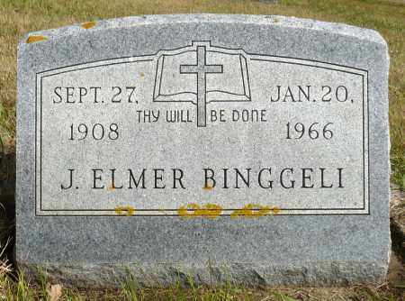 BINGGELI, J. ELMER - Minnehaha County, South Dakota | J. ELMER BINGGELI - South Dakota Gravestone Photos