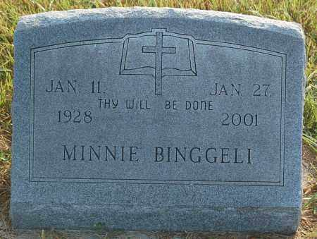 BINGGELI, MINNIE - Minnehaha County, South Dakota | MINNIE BINGGELI - South Dakota Gravestone Photos