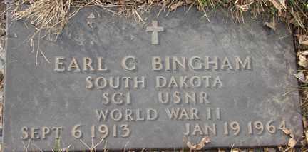 BINGHAM, EARL C. (WWII) - Minnehaha County, South Dakota   EARL C. (WWII) BINGHAM - South Dakota Gravestone Photos