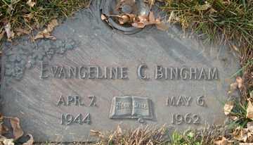BINGHAM, EVANGELINE CLAIRE - Minnehaha County, South Dakota   EVANGELINE CLAIRE BINGHAM - South Dakota Gravestone Photos