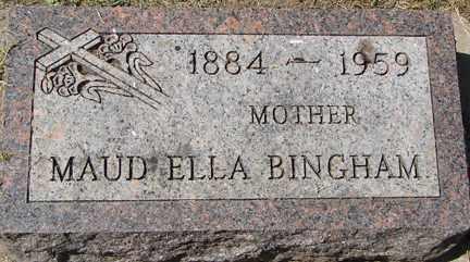 BINGHAM, MAUD ELLA - Minnehaha County, South Dakota | MAUD ELLA BINGHAM - South Dakota Gravestone Photos