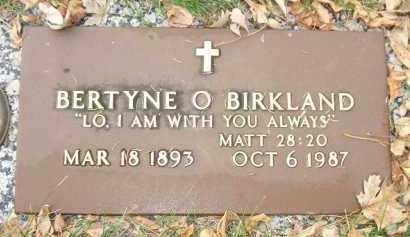 BIRKLAND, BERTYNE O. - Minnehaha County, South Dakota | BERTYNE O. BIRKLAND - South Dakota Gravestone Photos