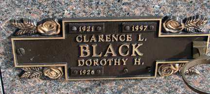 BLACK, CLARENCE L. - Minnehaha County, South Dakota   CLARENCE L. BLACK - South Dakota Gravestone Photos