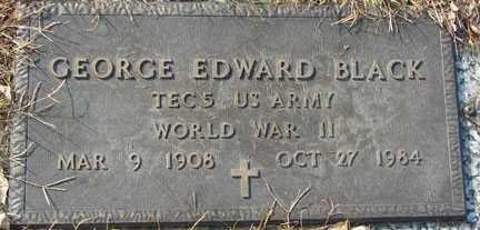 BLACK, GEORGE EDWARD - Minnehaha County, South Dakota | GEORGE EDWARD BLACK - South Dakota Gravestone Photos