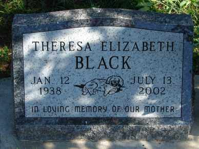 BLACK, THERESA ELIZABETH - Minnehaha County, South Dakota | THERESA ELIZABETH BLACK - South Dakota Gravestone Photos