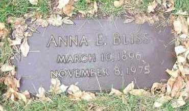 BLISS, ANNA E. - Minnehaha County, South Dakota | ANNA E. BLISS - South Dakota Gravestone Photos