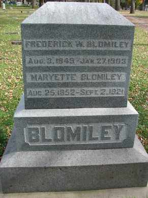 BLOMILEY, FREDERICK WILLIAM - Minnehaha County, South Dakota | FREDERICK WILLIAM BLOMILEY - South Dakota Gravestone Photos