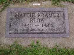 KRAMER BLOW, MATTIE - Minnehaha County, South Dakota | MATTIE KRAMER BLOW - South Dakota Gravestone Photos