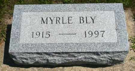 BLY, MYRLE - Minnehaha County, South Dakota | MYRLE BLY - South Dakota Gravestone Photos