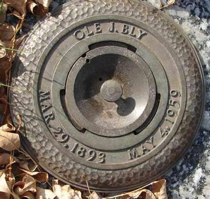 BLY, OLE J. - Minnehaha County, South Dakota   OLE J. BLY - South Dakota Gravestone Photos