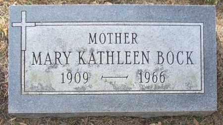 BOCK, MARY KATHLEEN - Minnehaha County, South Dakota   MARY KATHLEEN BOCK - South Dakota Gravestone Photos