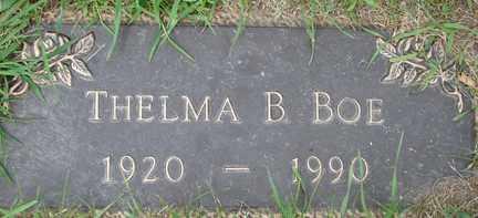 BOE, THELMA B. - Minnehaha County, South Dakota   THELMA B. BOE - South Dakota Gravestone Photos