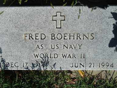 BOEHRNS, FRED - Minnehaha County, South Dakota   FRED BOEHRNS - South Dakota Gravestone Photos
