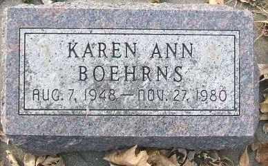BOEHRNS, KAREN ANN - Minnehaha County, South Dakota | KAREN ANN BOEHRNS - South Dakota Gravestone Photos