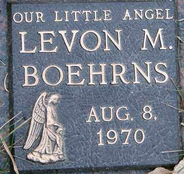 BOEHRNS, LEVON MARK - Minnehaha County, South Dakota | LEVON MARK BOEHRNS - South Dakota Gravestone Photos