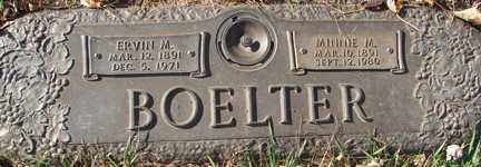 BOELTER, MINNIE M. - Minnehaha County, South Dakota | MINNIE M. BOELTER - South Dakota Gravestone Photos