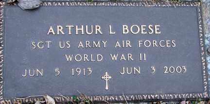 BOESE, ARTHUR L. (WWII) - Minnehaha County, South Dakota | ARTHUR L. (WWII) BOESE - South Dakota Gravestone Photos