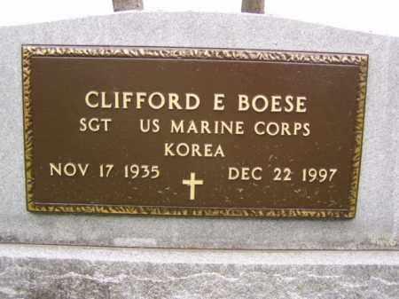 BOESE, CLIFFORD E. - Minnehaha County, South Dakota   CLIFFORD E. BOESE - South Dakota Gravestone Photos