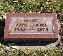 BOHL, ANNA J. - Minnehaha County, South Dakota | ANNA J. BOHL - South Dakota Gravestone Photos