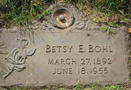 BOHL, BESTY E. - Minnehaha County, South Dakota   BESTY E. BOHL - South Dakota Gravestone Photos