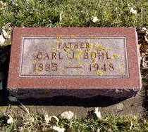 BOHL, CARL J. - Minnehaha County, South Dakota | CARL J. BOHL - South Dakota Gravestone Photos