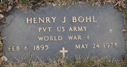 BOHL, HENRY J. (WWI) - Minnehaha County, South Dakota | HENRY J. (WWI) BOHL - South Dakota Gravestone Photos