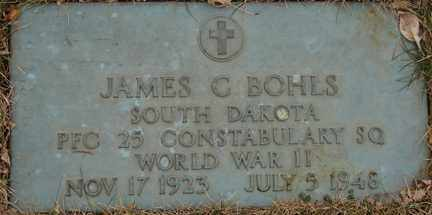 BOHLS, JAMES C. (WWII) - Minnehaha County, South Dakota | JAMES C. (WWII) BOHLS - South Dakota Gravestone Photos