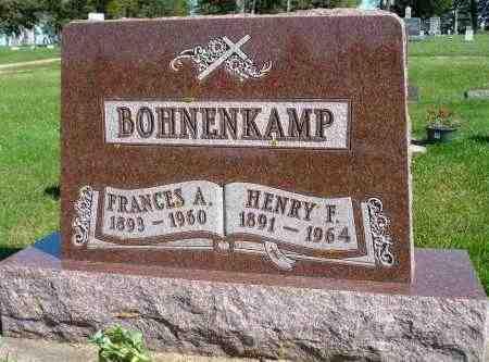 BOHNENKAMP, FRANCES A. - Minnehaha County, South Dakota | FRANCES A. BOHNENKAMP - South Dakota Gravestone Photos