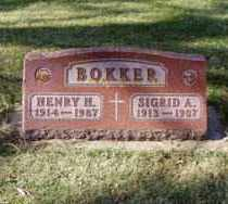 BOKKER, SIGRID A. - Minnehaha County, South Dakota | SIGRID A. BOKKER - South Dakota Gravestone Photos