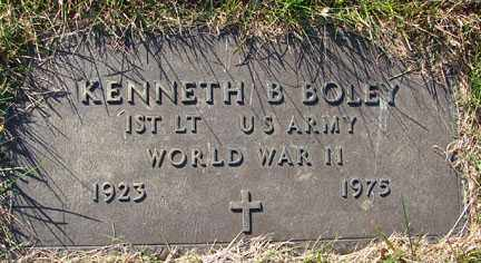 BOLEY, KENNETH B. - Minnehaha County, South Dakota | KENNETH B. BOLEY - South Dakota Gravestone Photos