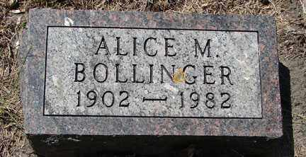 BOLLINGER, ALICE M. - Minnehaha County, South Dakota | ALICE M. BOLLINGER - South Dakota Gravestone Photos