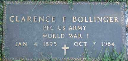 BOLLINGER, CLARENCE F. - Minnehaha County, South Dakota   CLARENCE F. BOLLINGER - South Dakota Gravestone Photos
