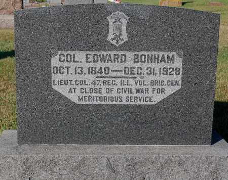 BONHAM, EDWARD COL. - Minnehaha County, South Dakota | EDWARD COL. BONHAM - South Dakota Gravestone Photos