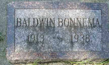 BONNEMA, BALDWIN - Minnehaha County, South Dakota | BALDWIN BONNEMA - South Dakota Gravestone Photos