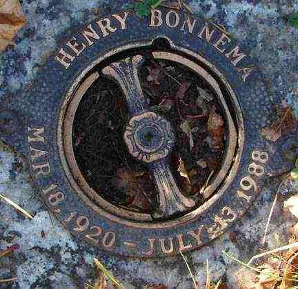 BONNEMA, HENRY - Minnehaha County, South Dakota   HENRY BONNEMA - South Dakota Gravestone Photos