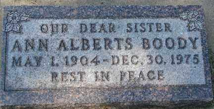 BOODY, ANN ALBERTS - Minnehaha County, South Dakota   ANN ALBERTS BOODY - South Dakota Gravestone Photos