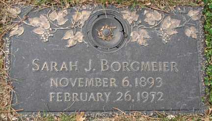 BORGMEIER, SARAH J. - Minnehaha County, South Dakota | SARAH J. BORGMEIER - South Dakota Gravestone Photos