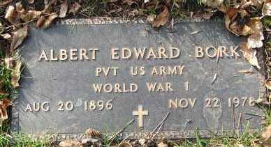 BORK, ALBERT EDWARD - Minnehaha County, South Dakota | ALBERT EDWARD BORK - South Dakota Gravestone Photos